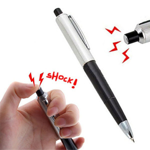 1pcs Ballpoint Pen Shocking Electric Shock Toy Compact, Portable And Durable Practical Prank Trick Holiday Gift