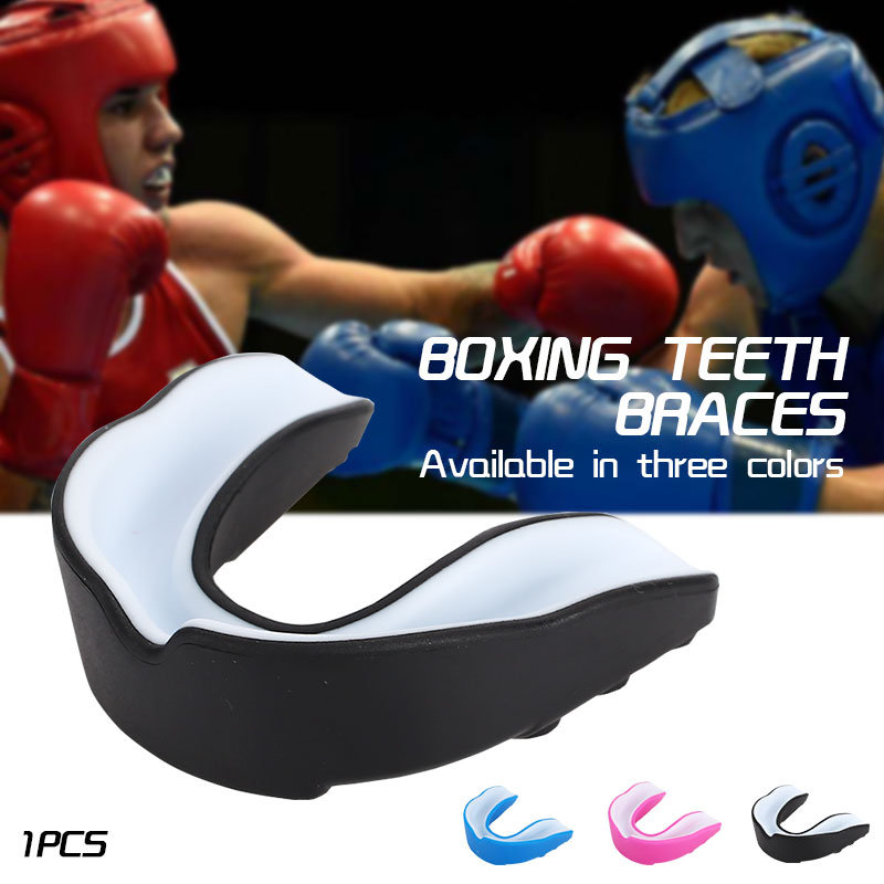 Double Side Sports Boxing Clear Mouth Piece Gum Shield Cover Teeth Protector
