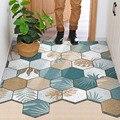 ПВХ шестиугольный Придверный коврик для спальни, ванной, гостиной, прихожей, входной коврик, коврик для удаления грязи, нескользящий, можно ...