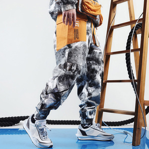 Image 2 - Hip Hop kamuflajlı kargo pantolon Streetwear erkekler Harajuku taktik pantolon çok cep 2019 dökümlü pantolon HipHop Harem pantolon rahat