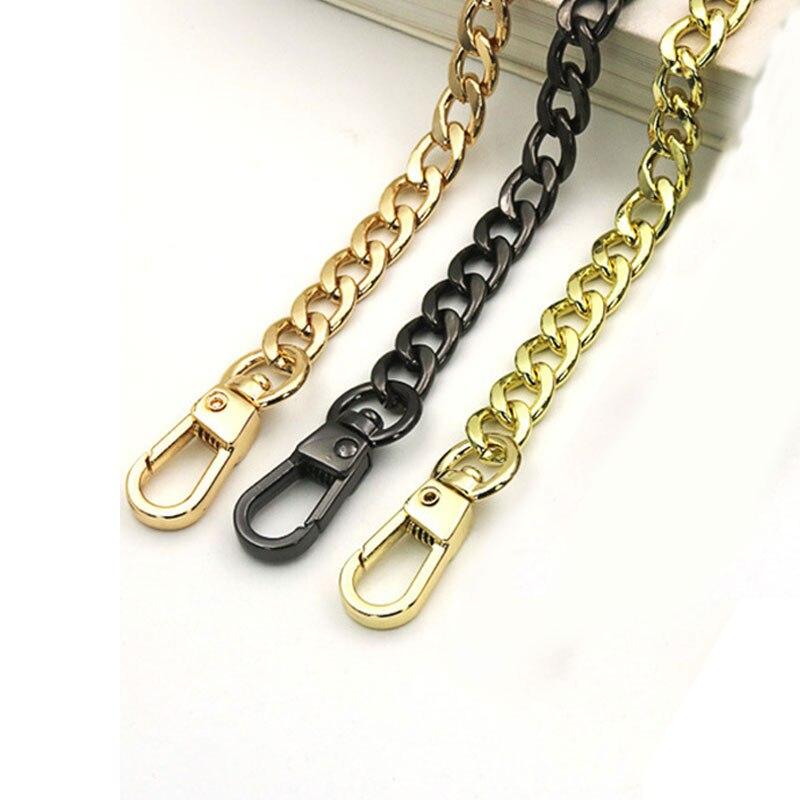 Long 120cm/110cm/100cm Metal Purse Chain Strap Handle Handle Replacement For Handbag Shoulder Bag
