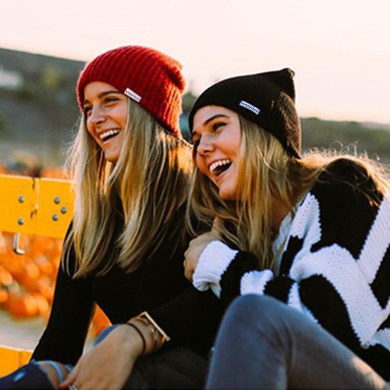 1 Pcs Unisex Hat URGENTMAN Casual Beanie For Men & Women Warm Soft Knitted Winter Hat Fashion Plain Daily Beanie Hat Crochet Cap 1