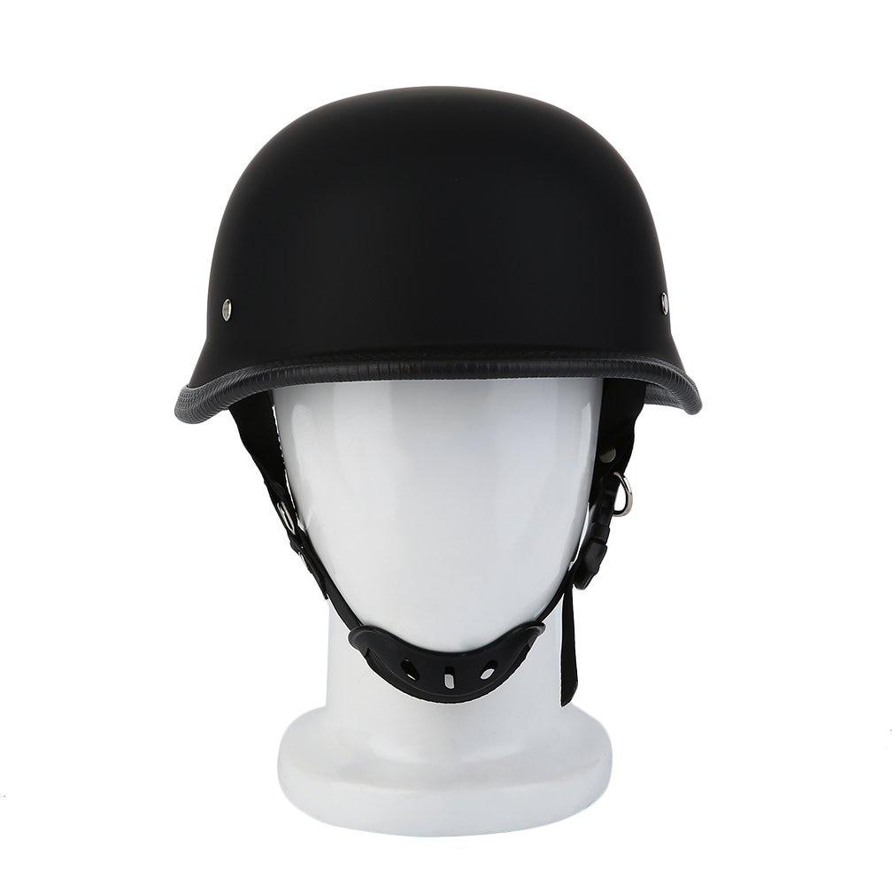 Newest M/L/XL Motorcycle Helmet Matte Black German Style Vintage Durable Half Face German Helmet Motorcycle Helmet Hot Selling