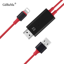 цена на 1.8M 8 Pin to HDMI Male Cable HD 1080P HDMI Converter Adapter Cables USB Cable for HDTV TV Digital AV for iPhone xr x 6s for IOS