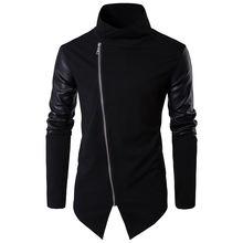 Осень и зима 2020 Новая мода черная кожаная Лоскутная водолазка