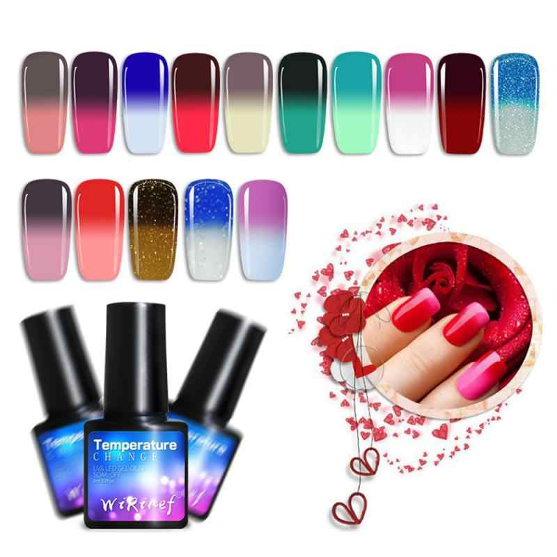 8ml Gel Nagellak Semi Permanant Temperatuurverandering Kleur UV Nail Gel Soak Off Nail Art Gel Lak Gelpolish manicure TSLM1