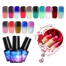 8 Ml Gel Nail Polish Semi Permanant Suhu Perubahan Warna UV Nail Gel Rendam Off Gel Nail Art Pernis Gelpolish manikur TSLM1(China)