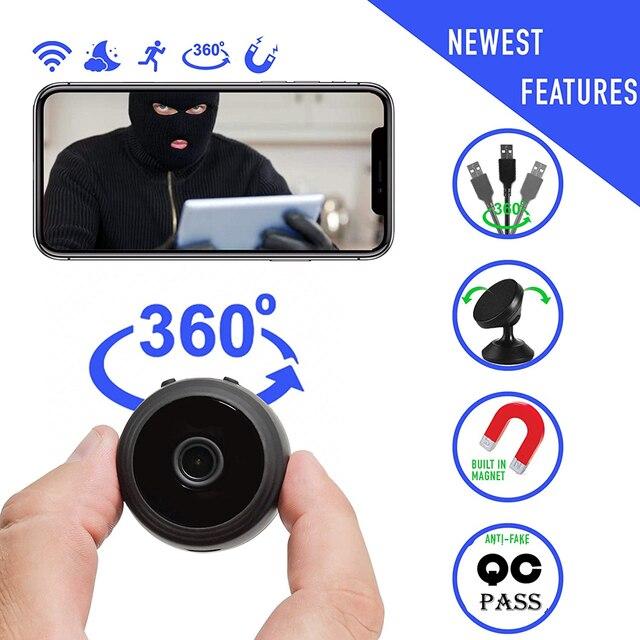 A9 1080p wifi mini câmera, câmera p2p de segurança em casa wifi, câmera de vigilância sem fio de visão noturna, monitor remoto app telefone