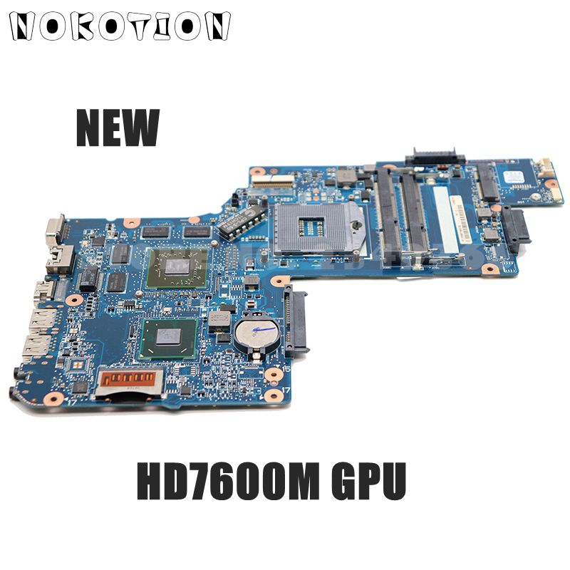NOKOTION NEW H000038410 MAIN BOARD For Toshiba Satellite L850 C850 C855 Laptop Motherboard HM76 <font><b>DDR3</b></font> HD7600M graphics image