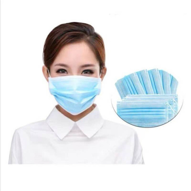 50Pcs/Pack Disposable mask Flu Hygiene Face Mask3-Layer Non-woven Disposable Elastic Mouth Soft Breathable as  KF94 1