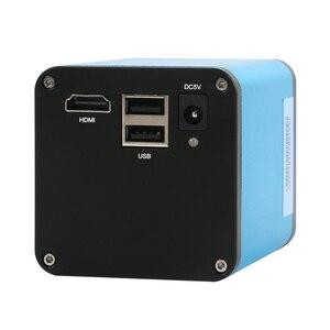 """Image 4 - Цифровой фокус SONY IMX290 HDMI TF видео Автофокус промышленный микроскоп камера + 180X C Mount объектив + Стенд + 144 светодиодная кольцесветильник + 10,1 """"ЖК дисплей"""