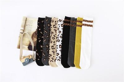 Image 2 - Boys Girls Socks Leopard Cotton Soft Kids Knee High Socks Autumn  Winter Leg Warmers Children Long SockTights