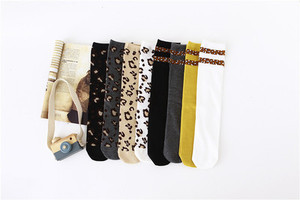 Image 2 - Boys Girls Socks Leopard Cotton Soft Kids Knee High Socks Autumn Winter Leg Warmers Children Long Sock