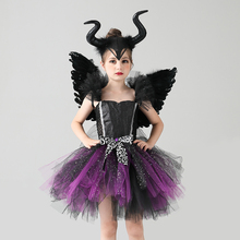 Dress Dark-Angel-Costume Carnival-Disguise Clothing Scary Cosplay Wing Evil Girls
