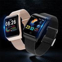 AF6 Blood Pressure Heart Rate F9 Smart Wrist Watch IP68 Waterproof Men Sport Bluetooth Smartwatch for IOS Xiaomi Android Phone