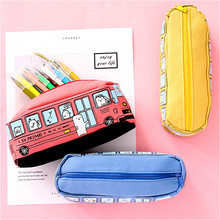 Pouch Case-Supplies Stationery Pencil-Bag School-Pen Kawaii Large-Capacity New 1pcs