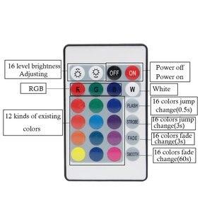 Image 2 - مصلحة الارصاد الجوية 5050 3528 2835 RGB LED قطاع شريط ضوء الملحقات تيار مستمر 12 فولت 24key / 44 مفتاح RGB الأشعة تحت الحمراء RF التحكم عن بعد لشريط RGB led