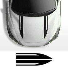 2 adet araba Hood kapak Sticker Peugeot 206 için Ford Focus 2 BMW E46 E60 Honda Audi A4 B8 A3 VW Golf 4 Passat B6 Renault aksesuarları