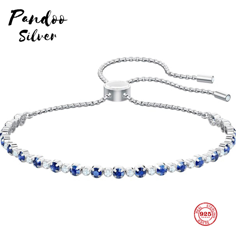PANDOO Fashion Charm Pure 925 Silver Original 1:1 Copy, Subtle Elegant Simple Wild Bracelet Female Luxury Jewelry Gifts