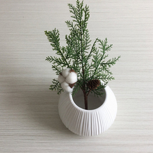 5 pcs /1pcs Christmas Artificial Realistic Plants Simulation Cypress Flower for Decor Home Xmas Office Fake Flowers