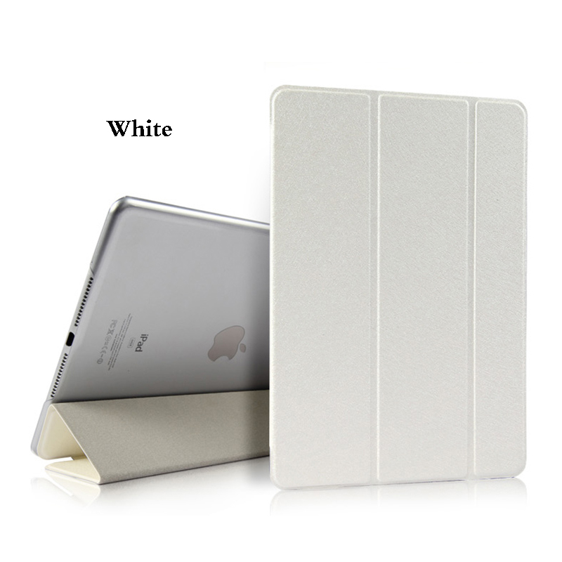 White White Tablet Case For iPad Air 4 10 9 2020 PU Leather Tri fold Cover For iPad