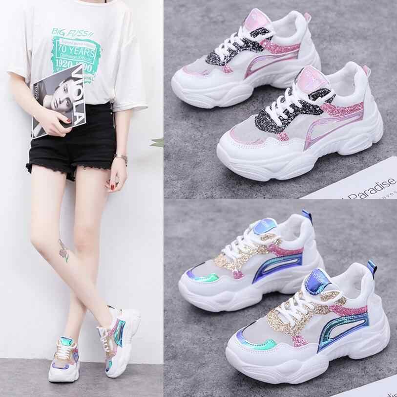 Yeni liste sıcak satış net yaz kadın Nefes spor ayakkabı koşu ayakkabıları T2019-7