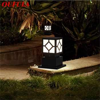 OUFULA Outdoor Wall Lamp Post Light Fixture Modern Patio LED Pillar Waterproof Lighting For Porch Balcony Courtyard Villa - DISCOUNT ITEM  32 OFF All Category
