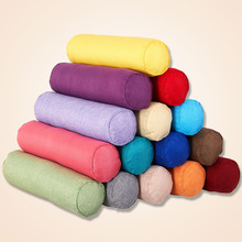 Solid Color Round Removable Washable Lumber Cushion Pillow Bed Roll Cushion Head Leg Back Support Light Travel Column Pillow
