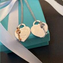 TIF – collier classique en argent Sterling 2020 en forme de cœur pour femmes, bijou à la mode pour femmes charmantes, 925