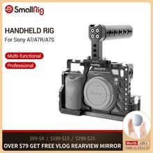 SmallRig A7/A7R/A7S מצלמה כלוב + לחיצת יד למעלה ידית + HDMI כבל מהדק אביזרי ערכת עבור Sony a7/A7R/A7S כלוב 2010