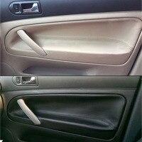 For VW Passat B5 4pcs Car Door Armrest Panel Microfiber Leather Cover Trim Set 1998 1999 2000 2001 2002 2003 2004 2005 2006