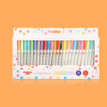 Fluorescent-Pen Mark-Pen Japanese Stationery Double-Headed Mildliner-Color Zebra Kawaii