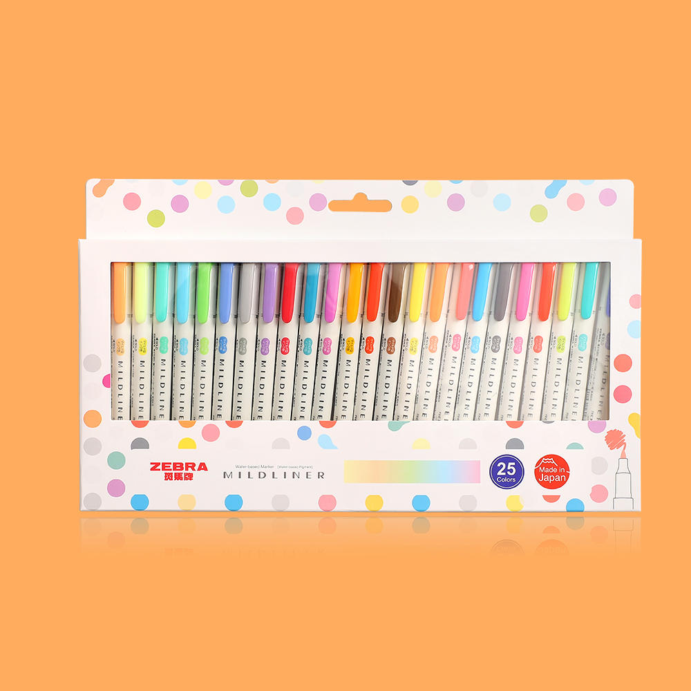 3pcs Or 5pcs/set Zebra Mildliner Color Japanese Stationery Double Headed Fluorescent Pen  Hook Pen Color Mark Pen Kawaii