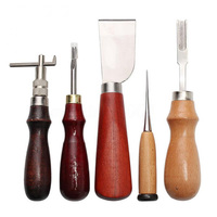 37PCS/set Professional Leather Craft Hand Sewing Tool For Carving Groover DIY