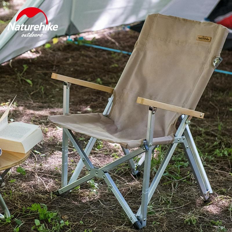 Naturehike Dobrável Cadeira Durável Portátil Camping Caminhadas Liga De Alumínio Pólo Encosto de Viagem Piquenique Ao Ar Livre Pesca NH19JJ004 - 6