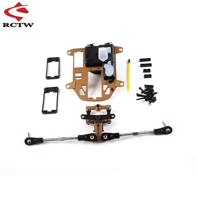 RC CAR CNC Metal Symmetrical Steering Kit ( Plastic Rod Version) for 1/5 Hpi Rofun Baha Rovan Km Baja 5b 5sc 5t Truck Toys Parts