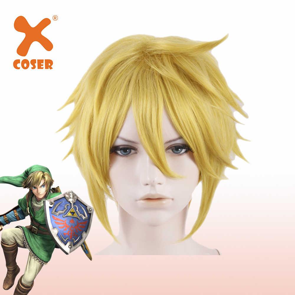 Xcoser Legend Of Zelda Link Pruik Cosplay Pruik Kort Haar Hoge Kwaliteit Cosplay Hoofddeksels Halloween Party Kostuums Accessoires