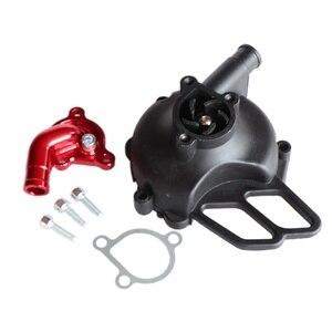 Image 2 - Motorcycle CNC Aluminum Alloy Water Pump Cover For 50 SX 2006 08 Pro JR LC 2002 05 PRO SR Water Pump Case New Arrivals