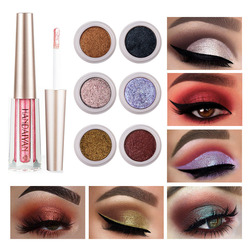 Glitter Eyeliner Pen Colorful Shimmer Eyeshadow Sequins Waterproof Long-Lasting Highlighter Cream Make Up Cosmetic Makeup Tools