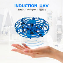 Mini Drone UFO Hand Operated RC Helicopter Quadrocopter Dron Infrared Induction