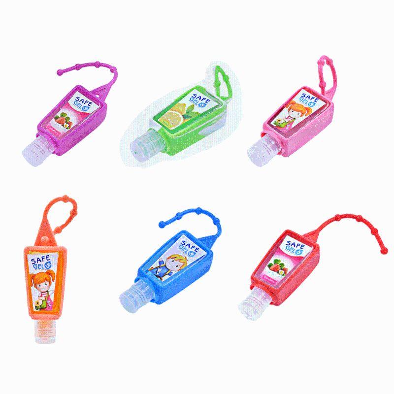 30ML Random Color Reusable Mini Hand Sanitizer Fruit Scented Disposable No Clean Travel Portable Clean Moisturizing Safe Gel