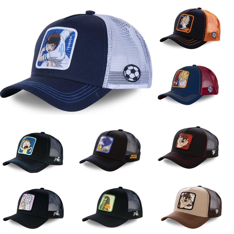 2020 Fashion Cotton Rick&morty  Captain Tsubasa Baseball Cap Dragon Ball Men Women Hip Hop Dad Mesh Hat Trucker Hat