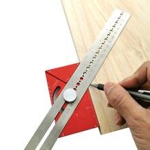 Règle de ligne de séparation, règle d'angle, règle de traçage multifonction, règle de trou de type T, travail du bois, marque de traçage, jauge de ligne