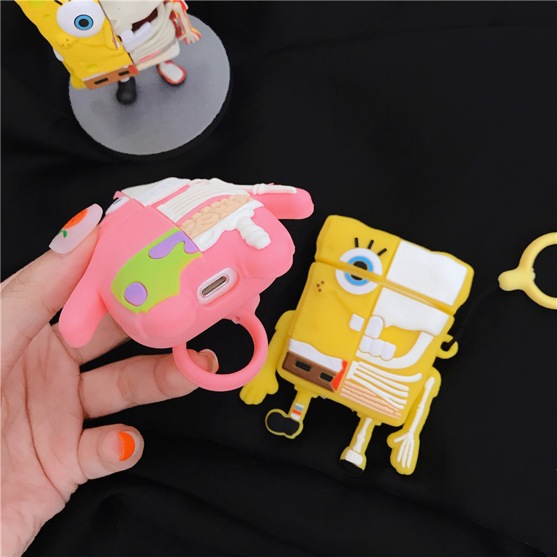 For AirPod 2 Case 3D Cartoon Soft Silicone Wireless Bluetooth Earphone Cases For Apple Airpods Case Cute Cover Funda in Earphone Accessories from Consumer Electronics