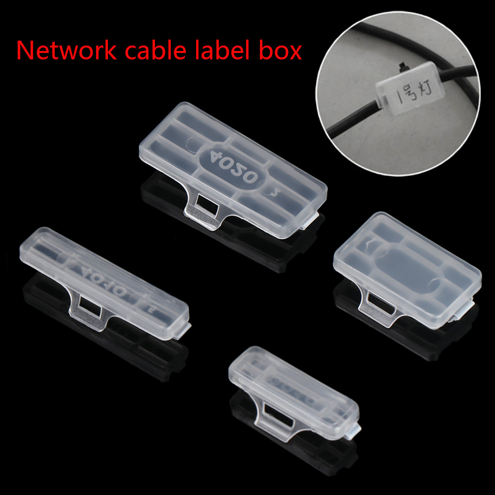 Waterproof Identification Tags Box Transparent Cable Labels Cable Tie Fiber Organizers Network Display Sign Marker Tool