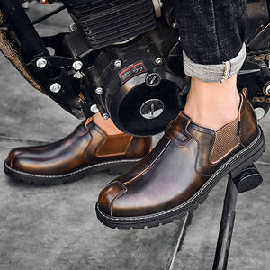 Men Shoes Ankle-Boots Chelsea Comfortable Male Autumn Casual Fashion New British Waterproof