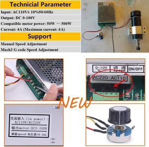 Image 5 - Alimentation électrique Mach3 réglable, 500W, 110V/220V, avec contrôle de vitesse, pour graveur avec moteur à broche CNC