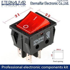 Image 3 - KCD4 חשמלי ריתוך מכונה מתג ספינה סוג מתג עם אדום אור 30A 250V AC חשמלי תנור חשמלי דוד מתג 4PIN T8555