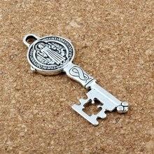 Сент Бенедикт Экзорцизм медаль католический крест в виде ключа