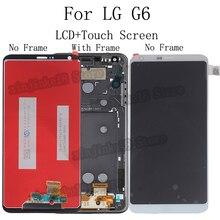 """5.7 """"oryginalne do lg G6 wyświetlacz ekran dotykowy z ramką H870 H870DS H873 H872 LS993 VS998 US997 zestaw do naprawy wymiana + darmowe narzędzie"""